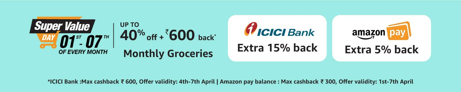 Amazon Super Value ICICI Bank Cashback Offer