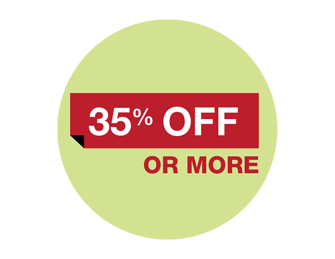 35% off or more