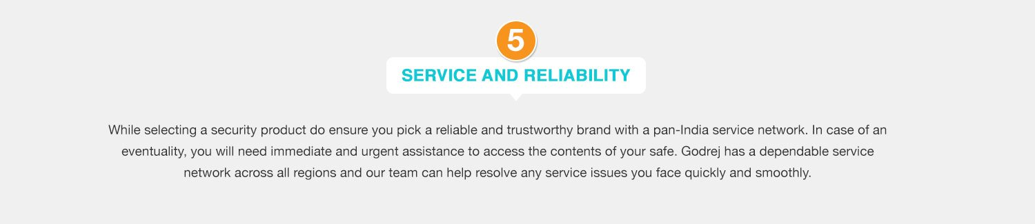 Service and reliability