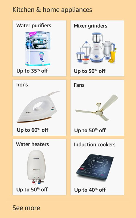 Kitchen and home appliances up to 50% off