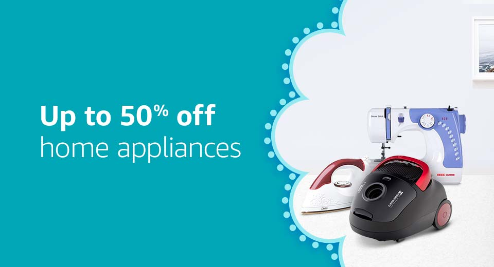 Up to 50% off home appliances