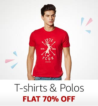 T-Shirts & Polos Flat 70% off