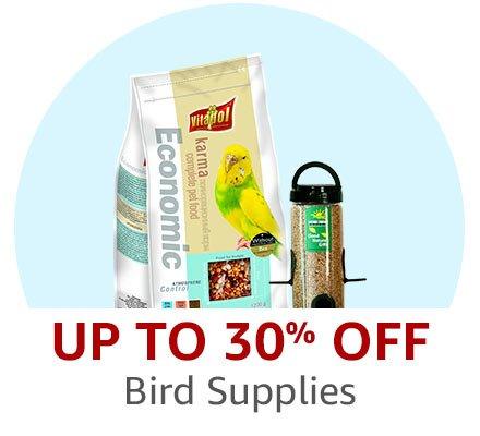 Up to 30% off bird supplies