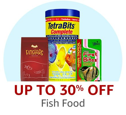 Up to 30% off Fish Food