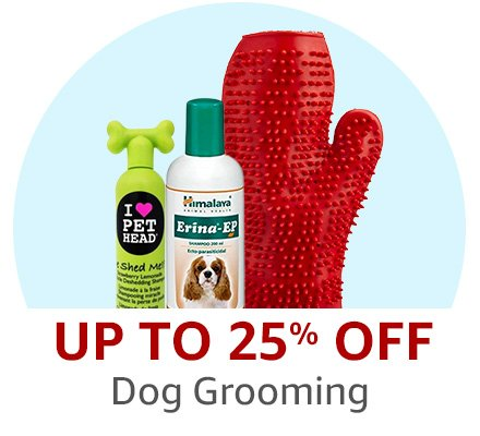 Up to 25% off dog grooming