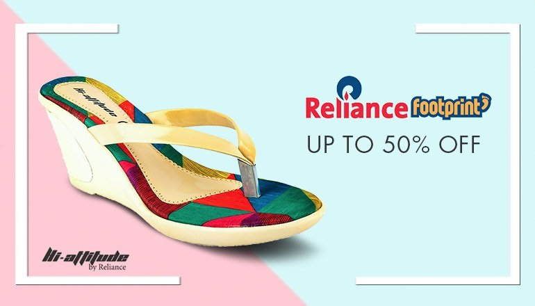 Reliance footwear: Up to 50% off
