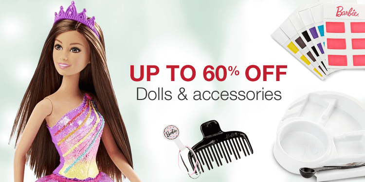 Up to 60% off dolls and accessories