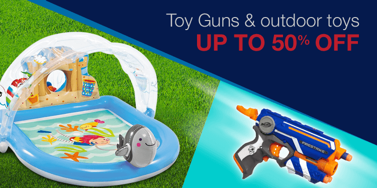 Toy guns and outdoor toys