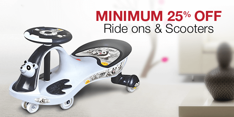 Minimum 25% off: Scooters and rideons