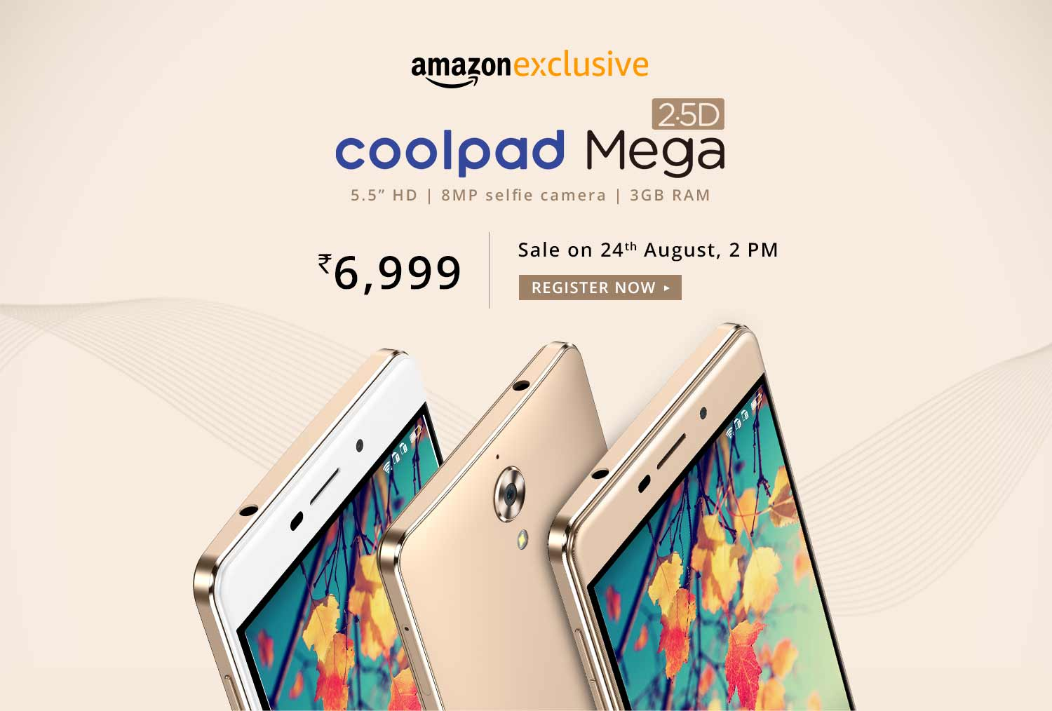 Coolpad Mega Smartphone Sale Offer Rs.6999 From Amazon