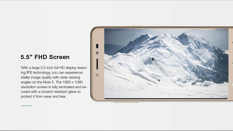 5.5 inch screen