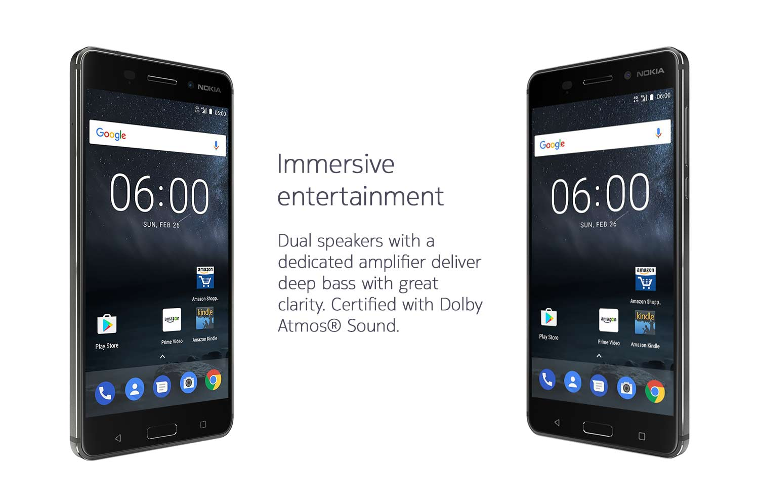 Dual Dolby Atmos speakers - Nokia 6
