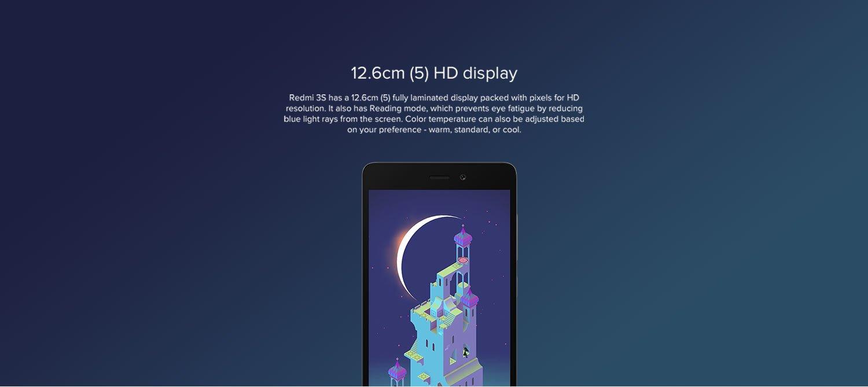 12.6cm (5) HD display