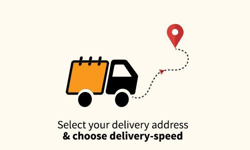 Choose delivery address & speed