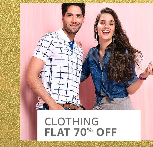 Clothing: Flat 70% off