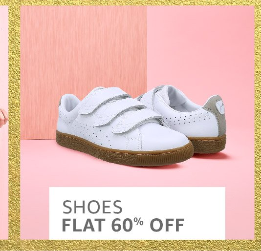 Shoes: Flat 60% off