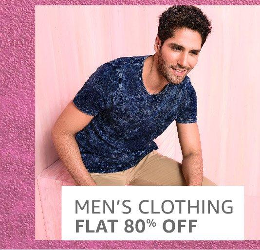 Men clothing: Flat 80% off