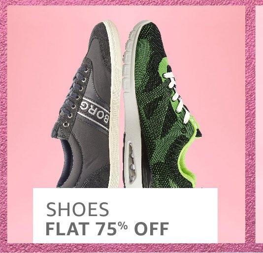 Shoes: Flat 75% off