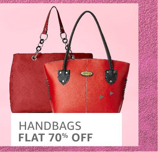 HAndbags: Flat 70% off