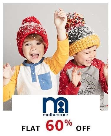 Mothercare Flat 60% off