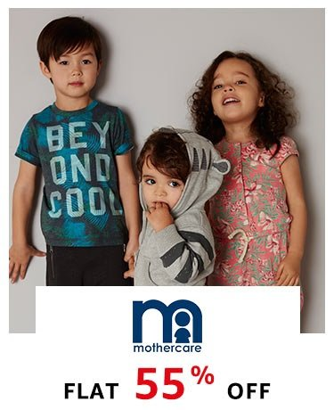 Mothercare- Flat 55% off