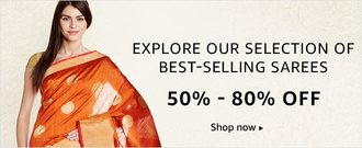 Best Selling Sarees 50% - 80% off on Amazon