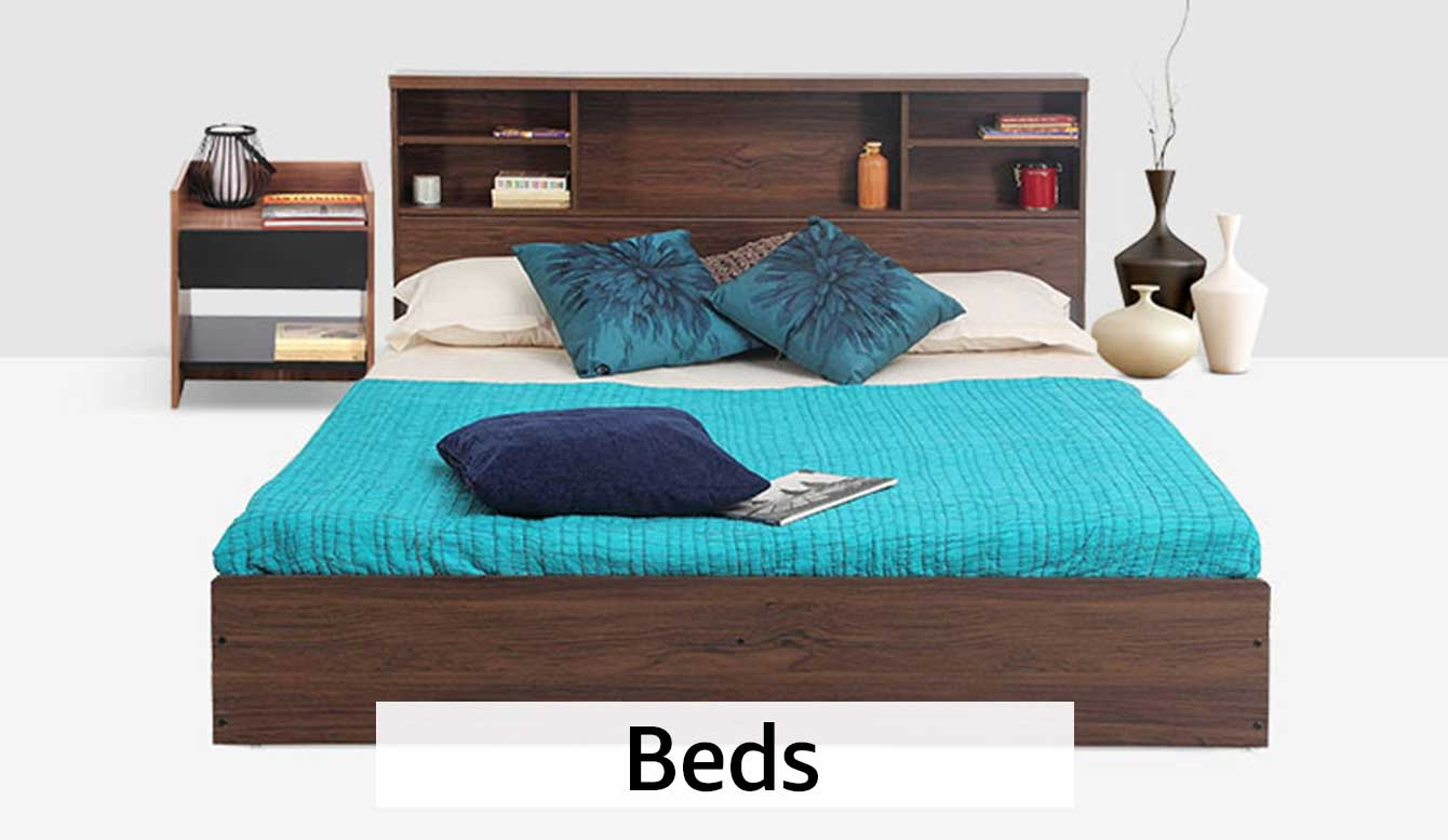 Furniture buy furniture online at best prices in india for Bedroom sets with mattress