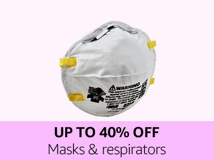 Up to 40% off Mask & respirators