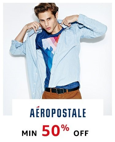 Aeropostale Min 50% off