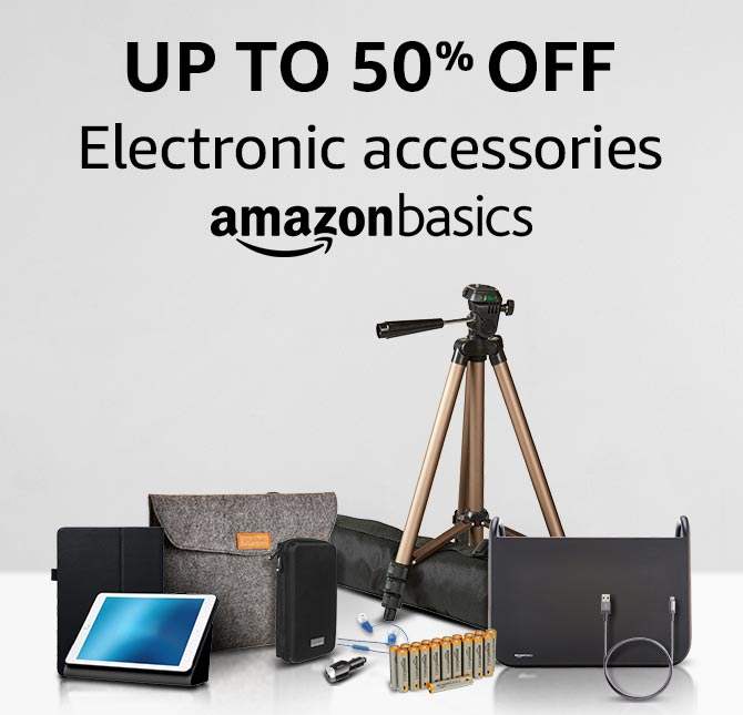 Up to 50% off on Electronic Accessories from AmazonBasics