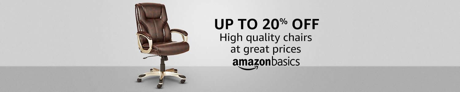 Up to 20% off: AmazonBasics chairs