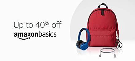 Up to 40% off on AmazonBasics
