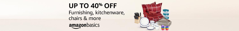 AmazonBasics home & kitchen: Up to 40% off