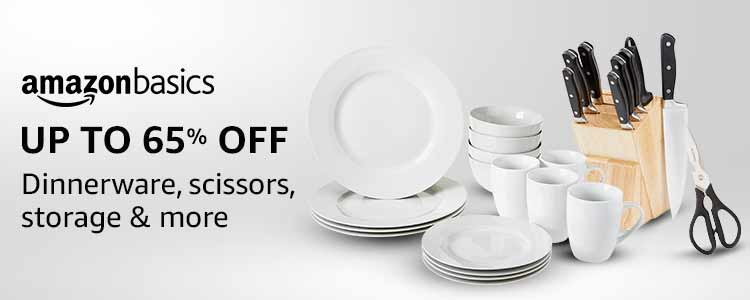 Up to 65% off: Dinnerware, scissors, storage & more from AmazonBasics