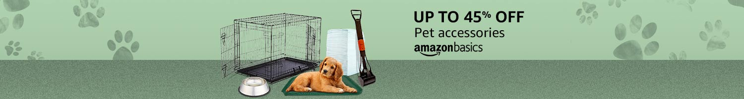 AmazonBasics pet accessories up to 45% off