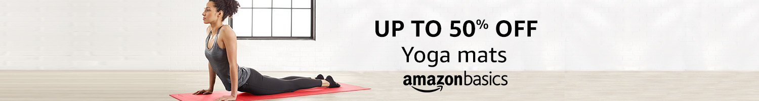 Up to 50% off on Yoga mats from AmazonBasics
