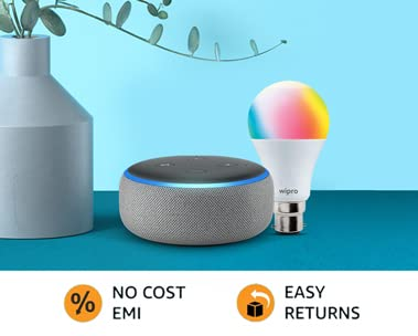 Echo dot smart bulb combo | Just ask Alexa