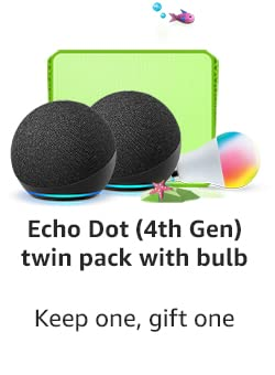 Echo Dot Twin Pack with Bulb