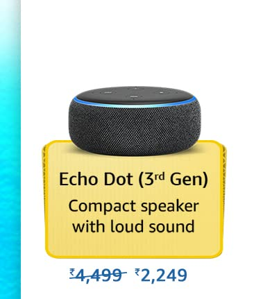 Amazon Prime Day 2021 Offer on Amazon Echo Dot 3rd Gen