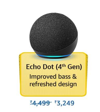 Amazon Prime Day 2021 Offer on Amazon Echo Dot 4th Gen