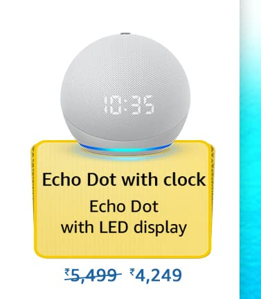 Amazon Prime Day 2021 Offer on Amazon Echo Dot With Clock
