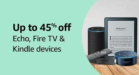 Up to 46% off: Amazon Echo devices