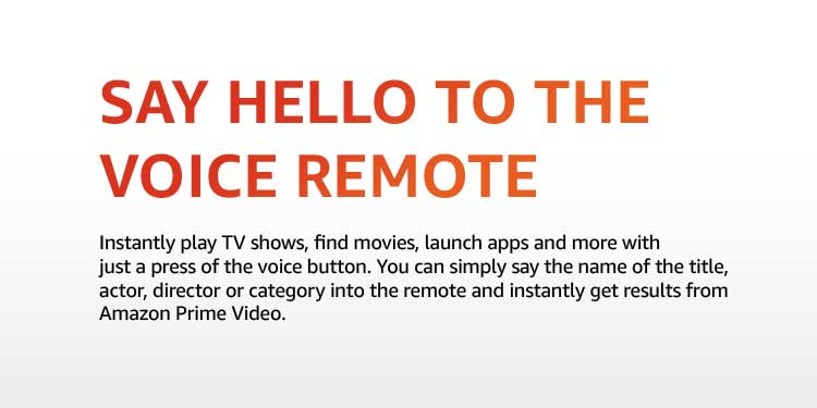 say hello to the voice remote