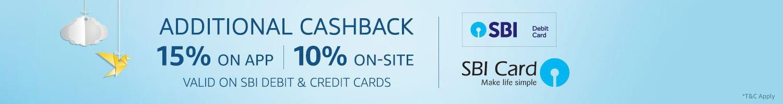 Additional cashback SBI card