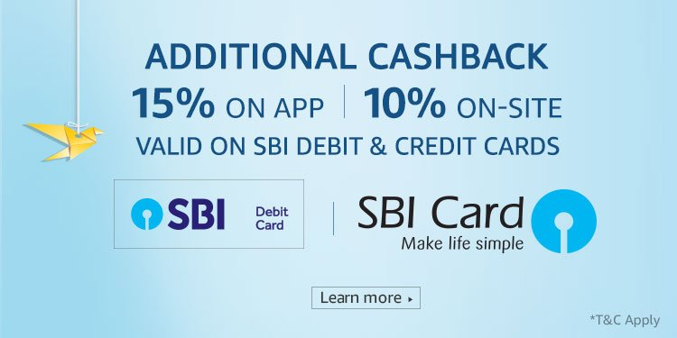 SBI NO COST EMI OFFER @ Amazon in