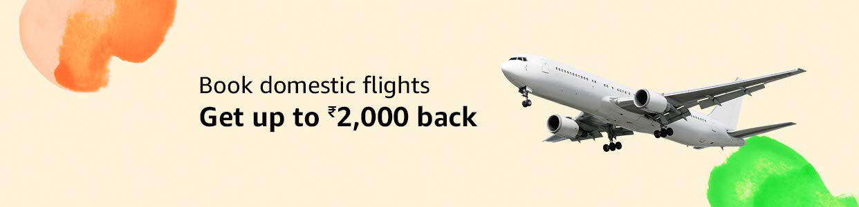 Flight bookings on Amazon | Up to Rs.2000 cashback