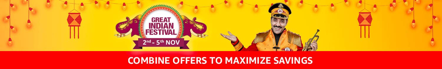 Combine offers to maximize savings - Great Indian Festival (24th to 28th Oct)