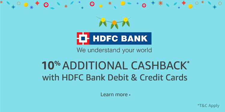 Mind-blowing Amazon HDFC Cards Cashback & EMI Offers that cannot be missed!