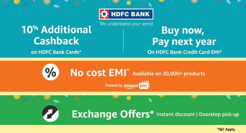 Cashback and EMI offers