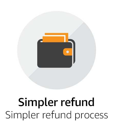 Simpler refund process